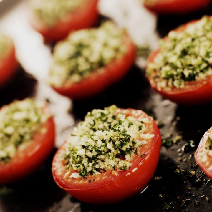 Oven Roasted Tomatoes with a Provencale Crust