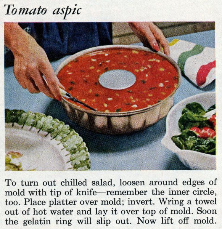 How to make tomato aspic - Retro recipe from 1961
