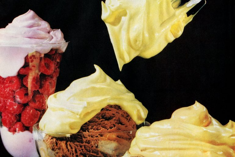 How to make whipped fruit juice toppings (1961)