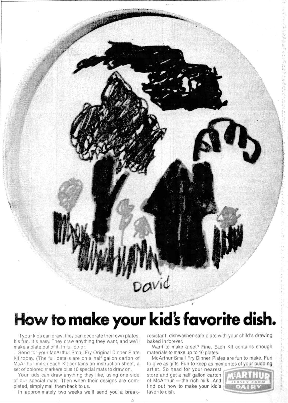 How to make your kid's favorite dish Offer from McArthur Dairy (1972)