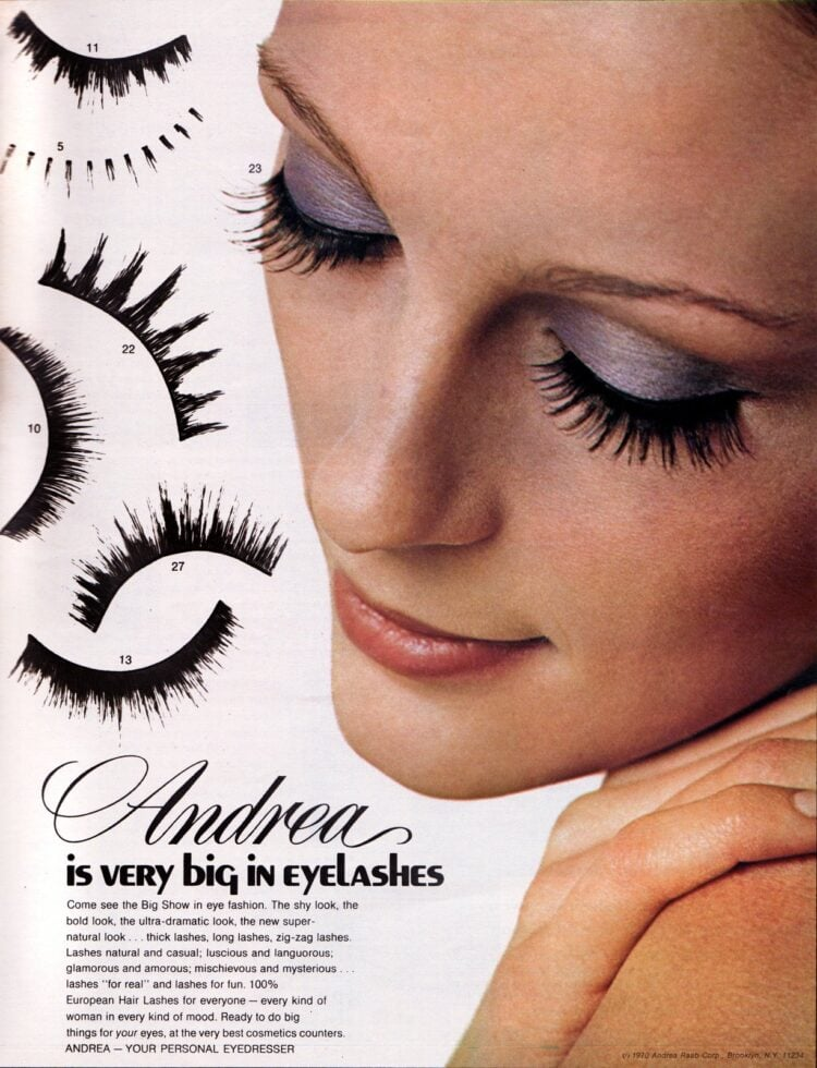 How to use vintage false eyelashes from 1970