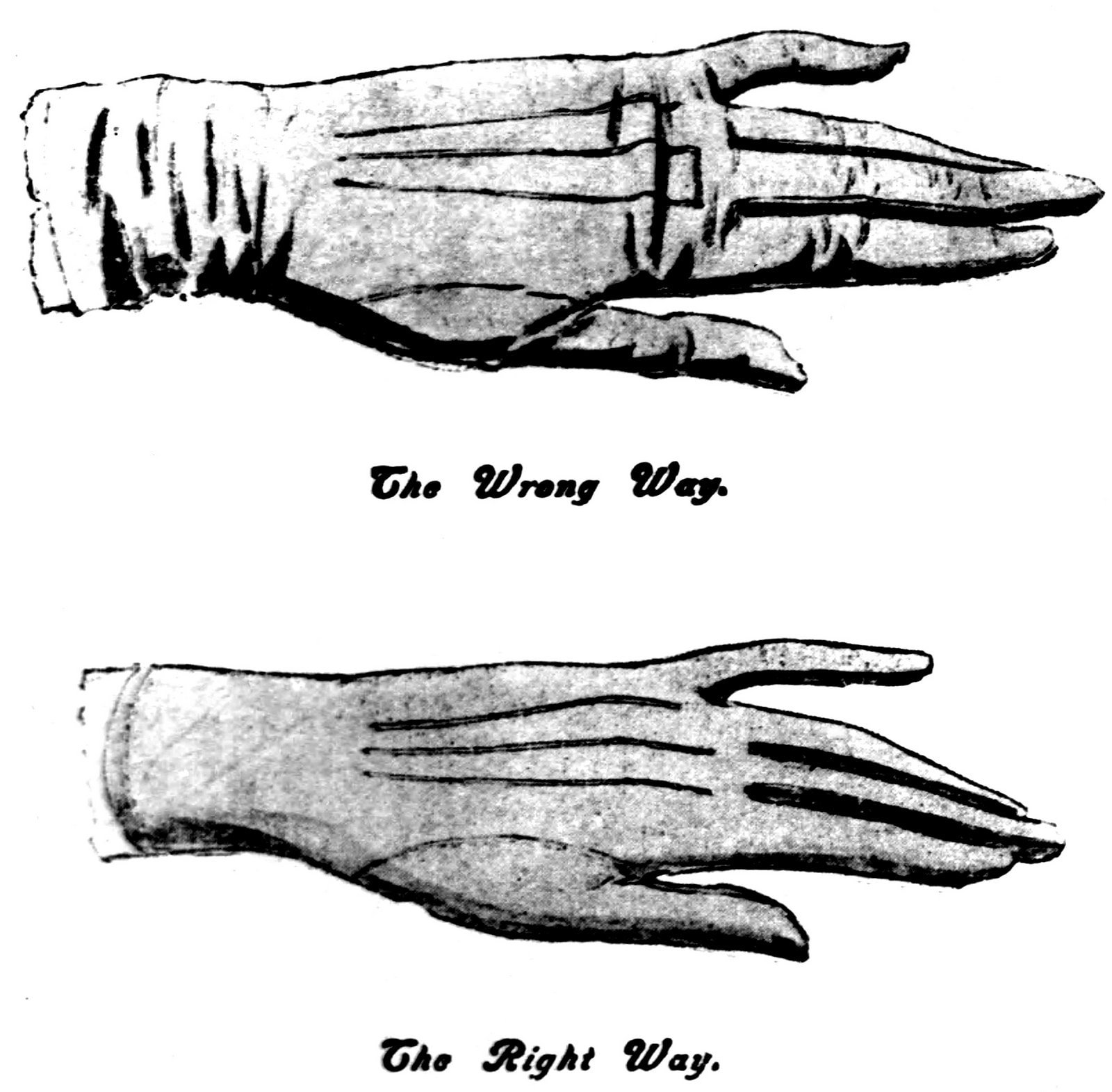 How to wear antique gloves - kid gloves for women
