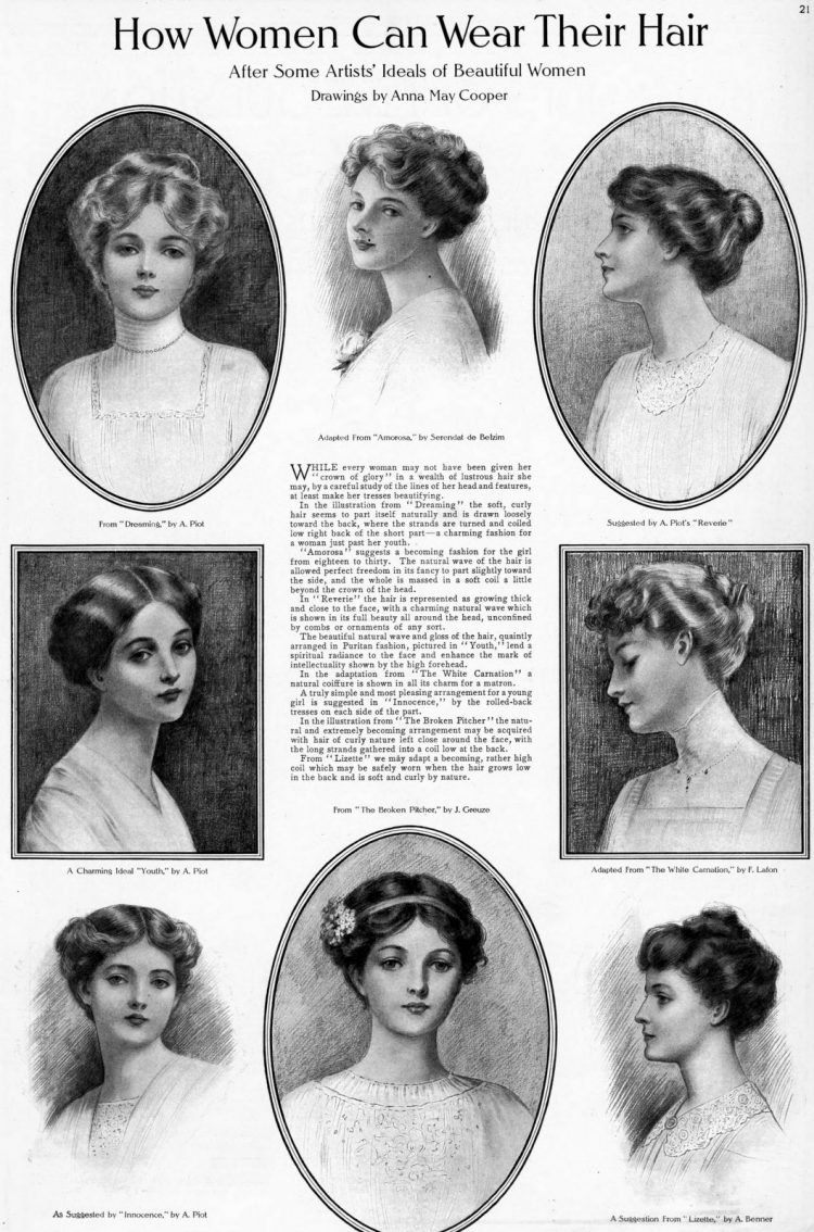 How women can wear their hair Styles from 1910