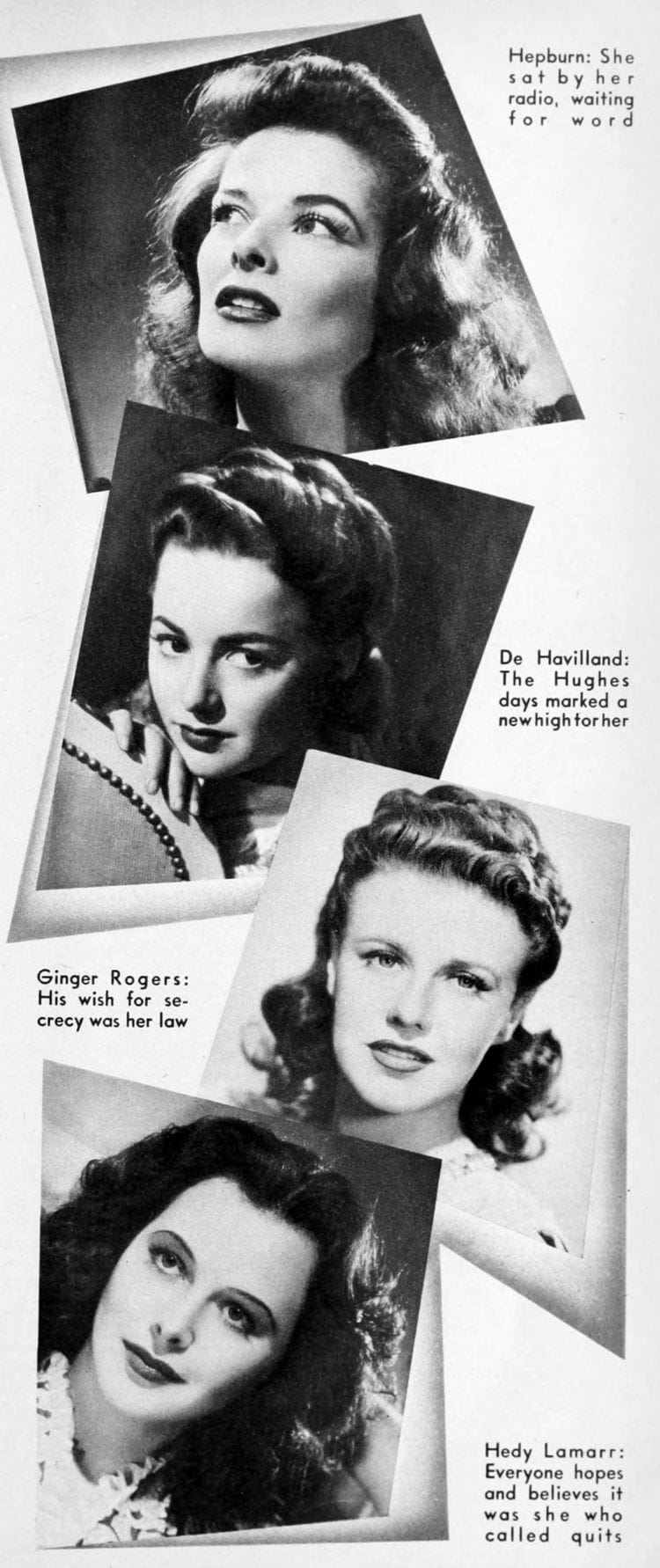 Howard Hughes and Hollywood actresses 1942