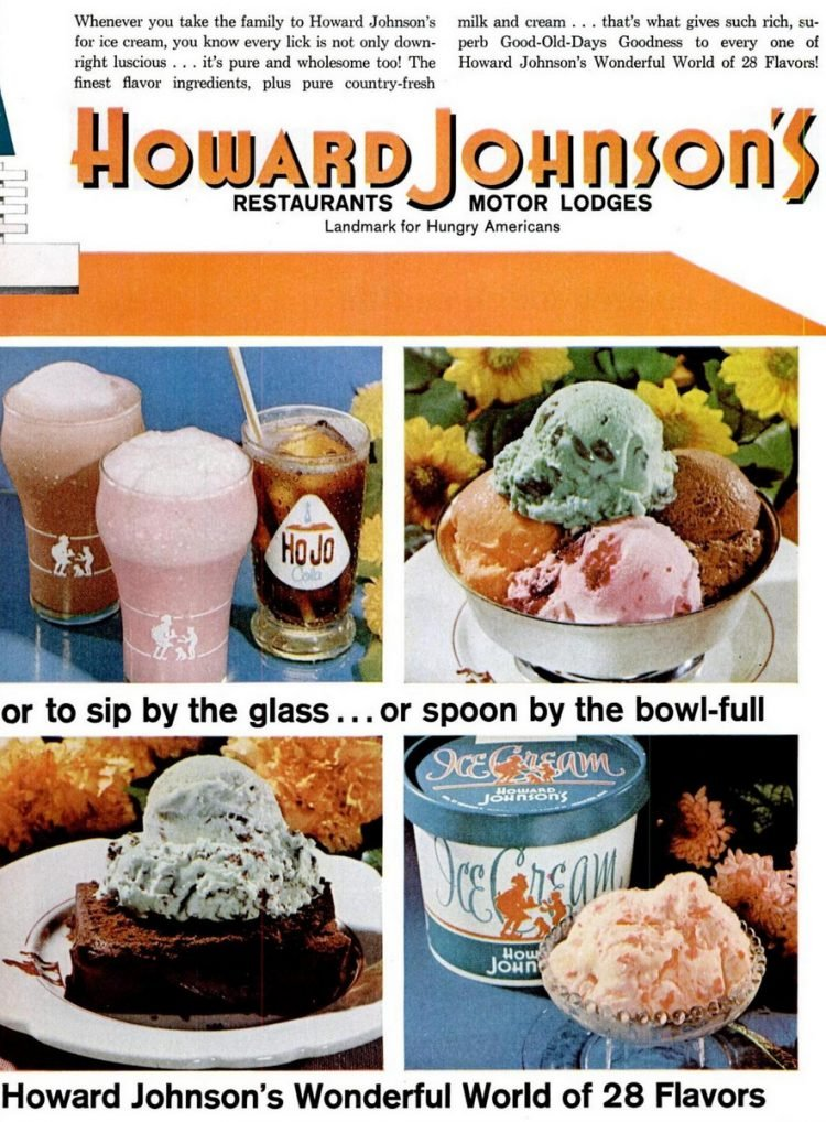 Howard Johnson's ice cream shops & restaurants in the 1960s (1)