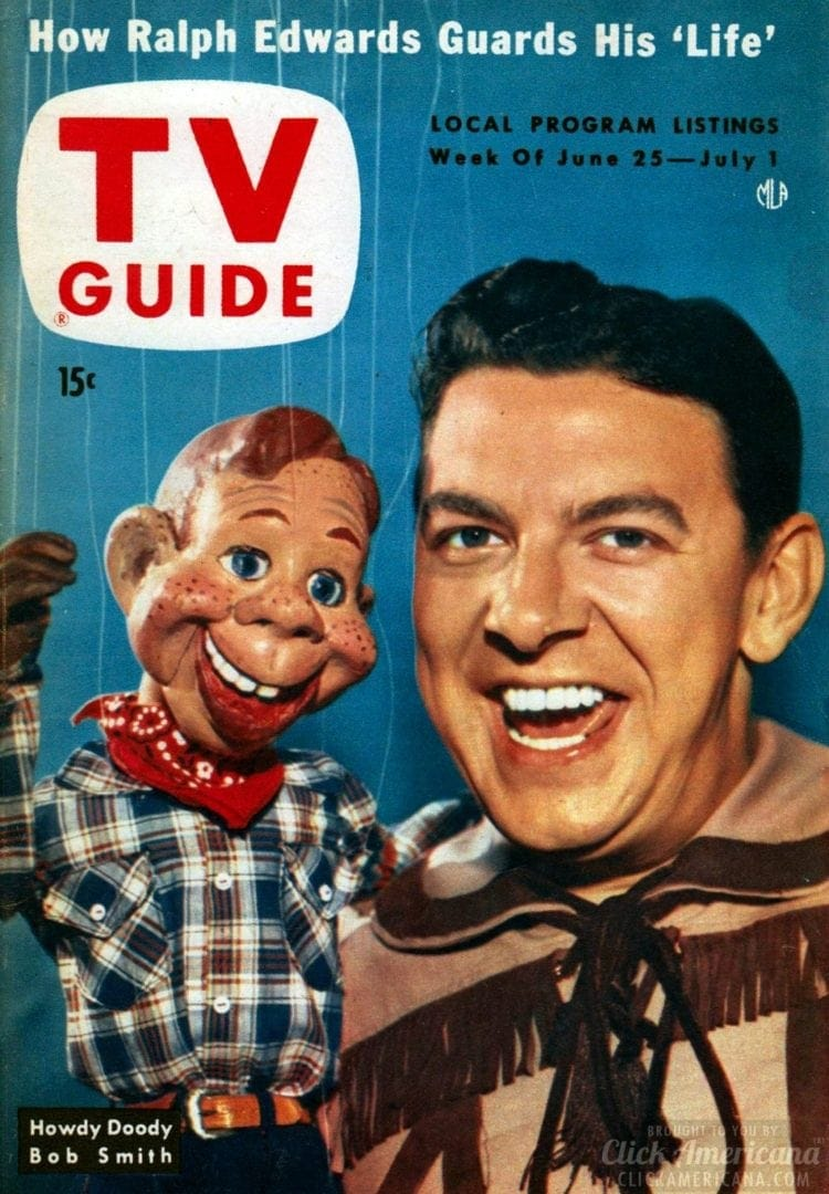Howdy Doody TV Guide cover - With millions of TV fans, Howdy Doody branching out into comics (1950)