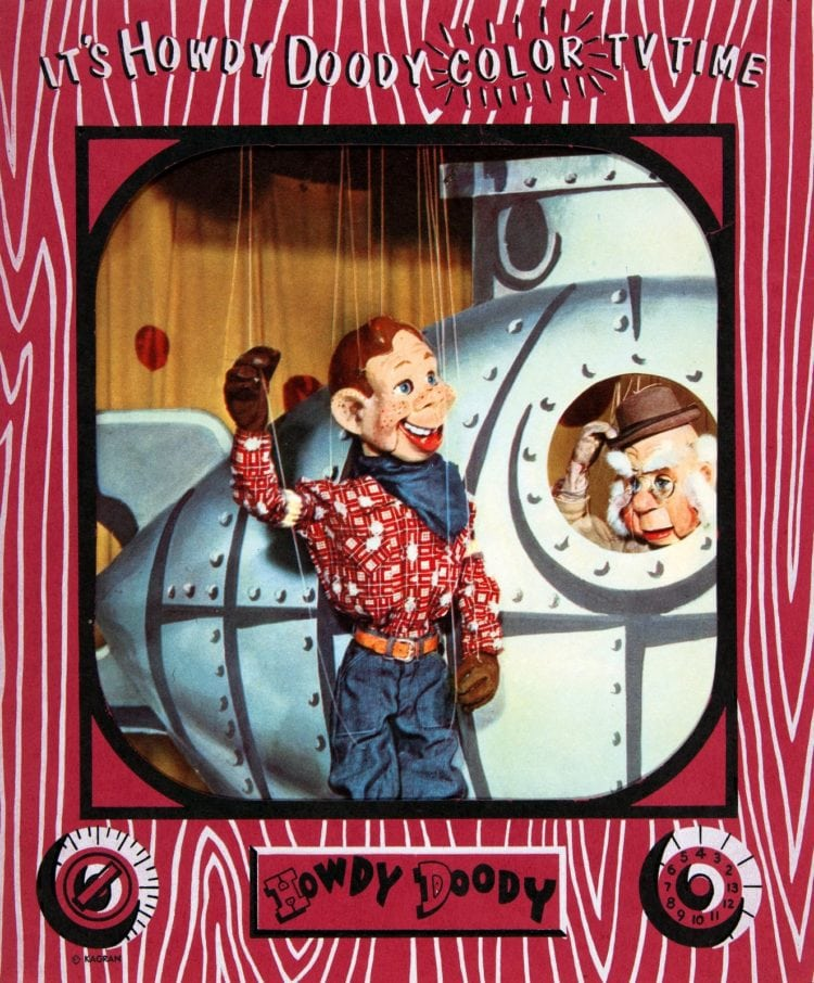 Howdy Doody color TV time 50s