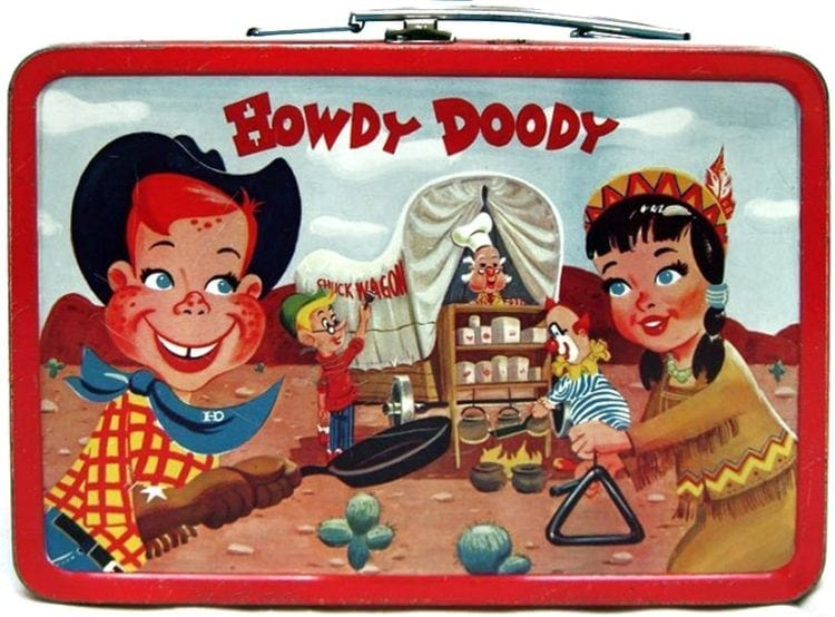 A Howdy Doody metal lunchbox from 1954