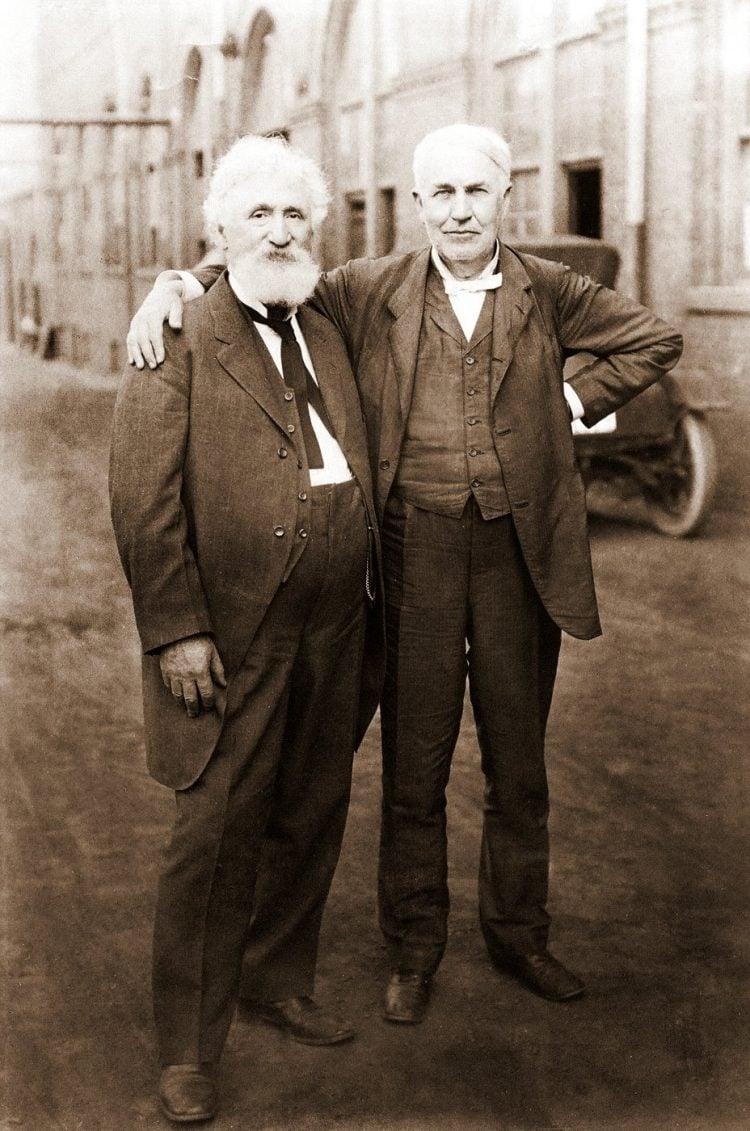 Hudson Maxim and Thomas Edison