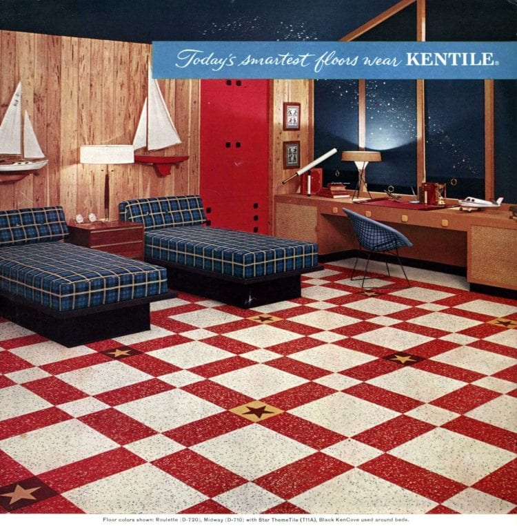 Huge floor patterns - Retro home decor from the 50s (1)