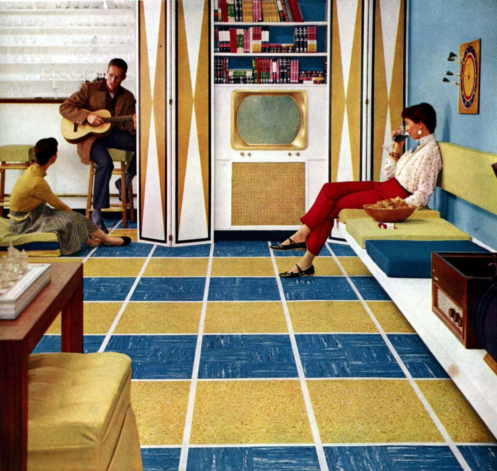 Huge floor patterns - Retro home decor from the 50s (2)