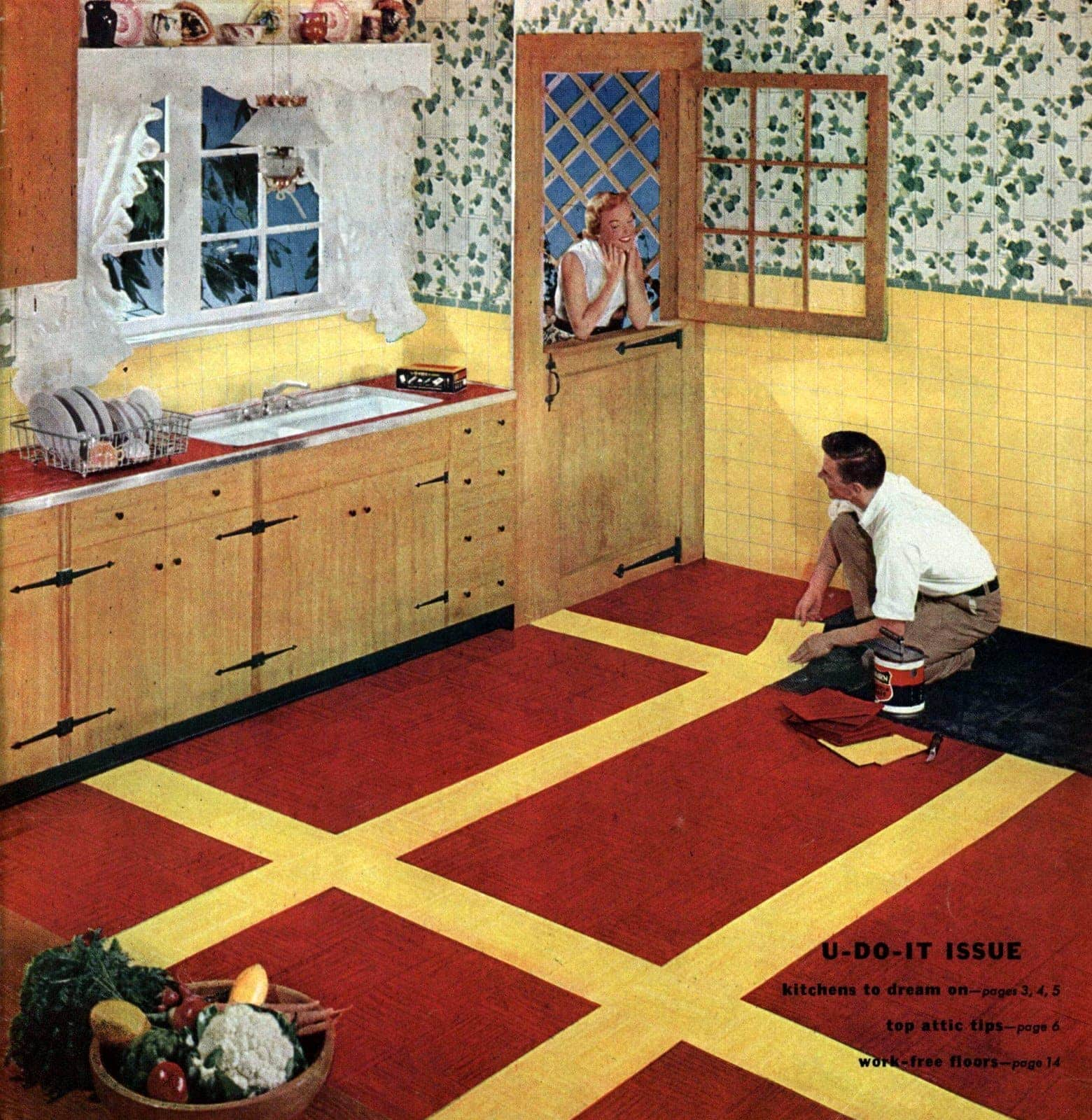 Huge Floor Patterns Retro Home Decor From The 50s 3