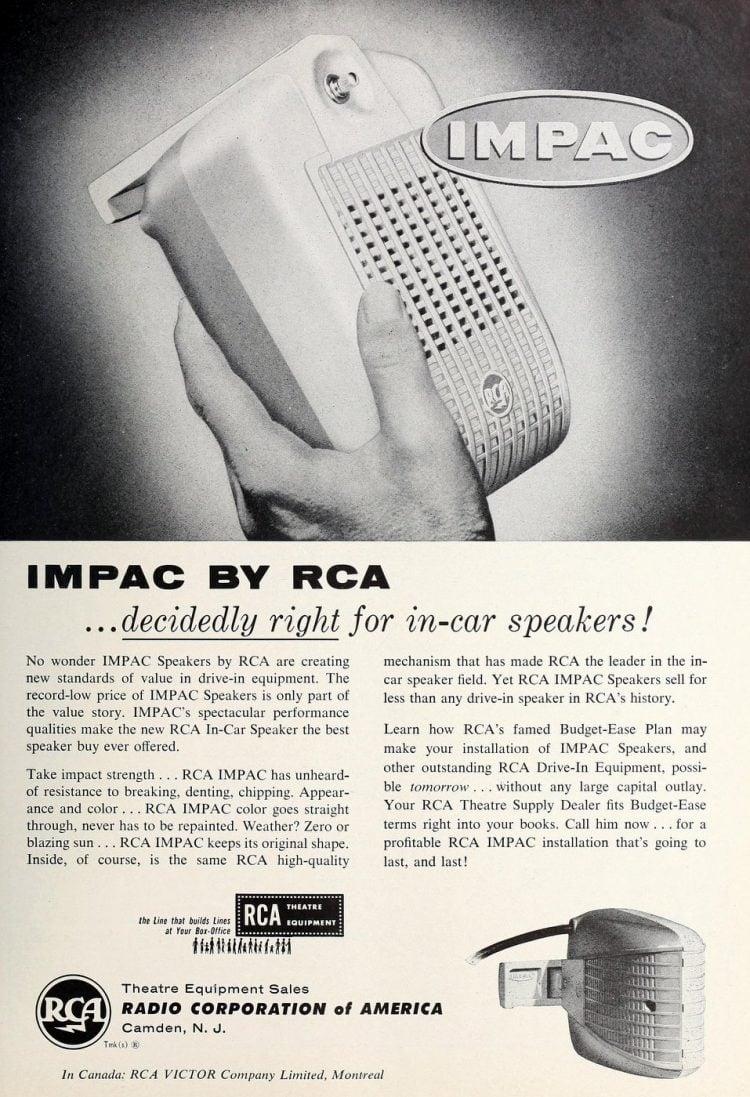 Huge retro RCA movie speakers from 1957