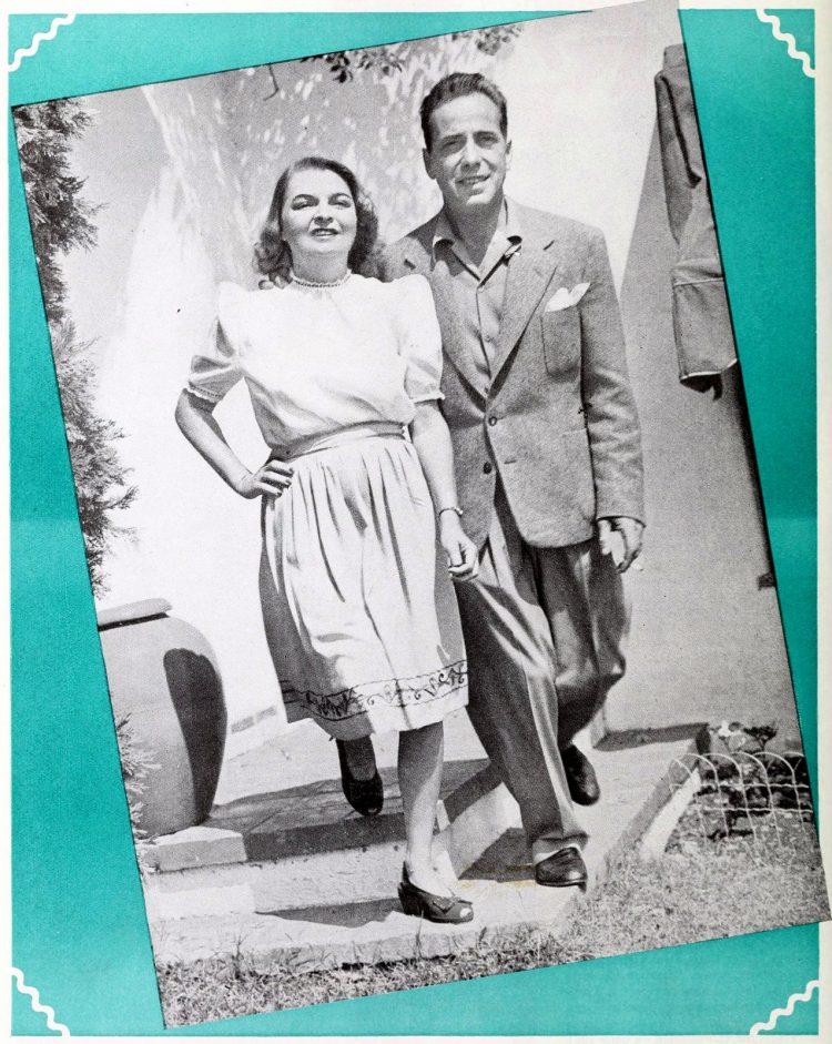 Humphrey Bogart and wife Mayo - 1940s
