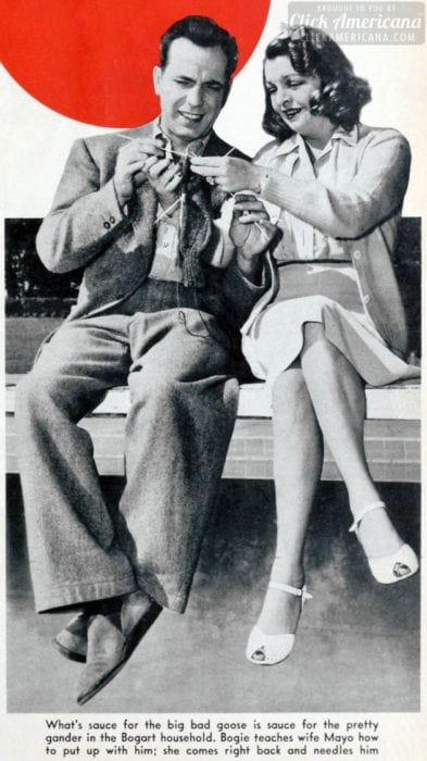 Humphrey Bogart and wife Mayo in 1942