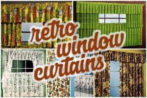 Hundreds of short retro window curtains cafe curtains 1970s