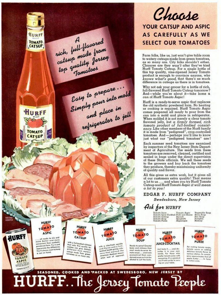 Hurff tomato catsup (1937)