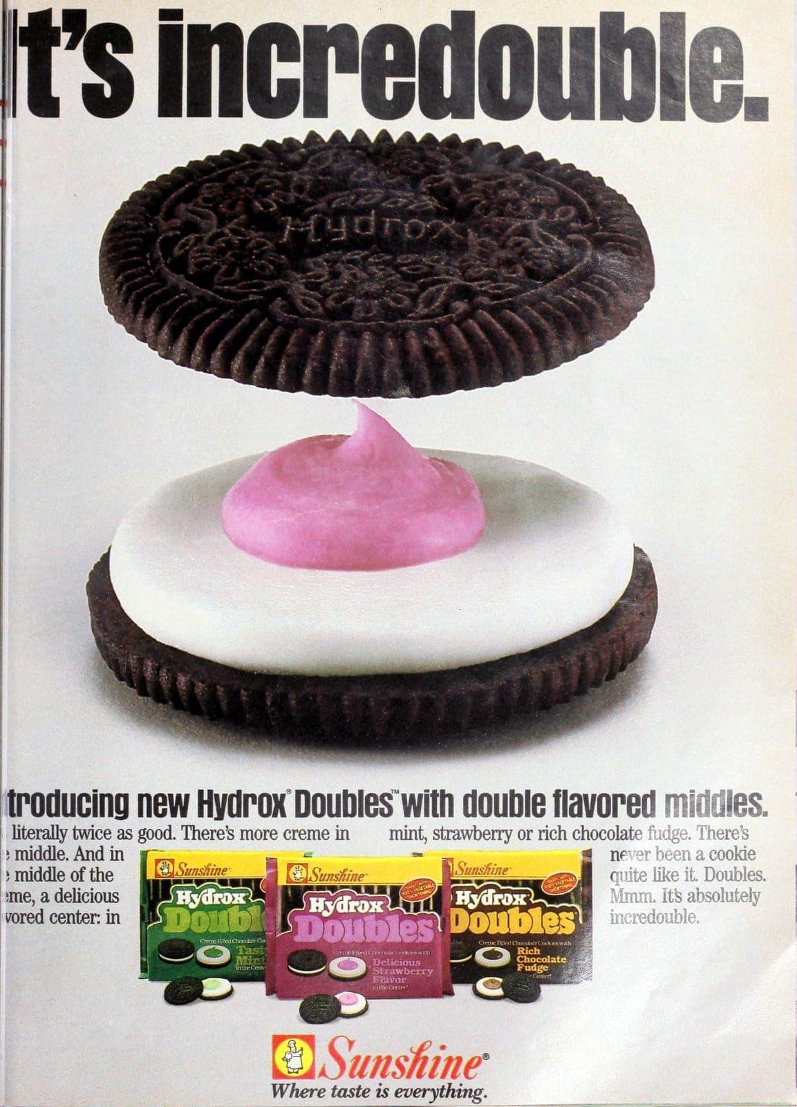 Hydrox Doubles cookies (1986)