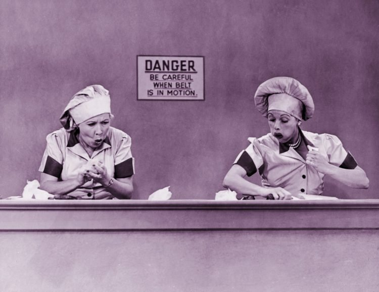 I Love Lucy and the chocolate factory candy conveyor belt episode with Lucille Ball