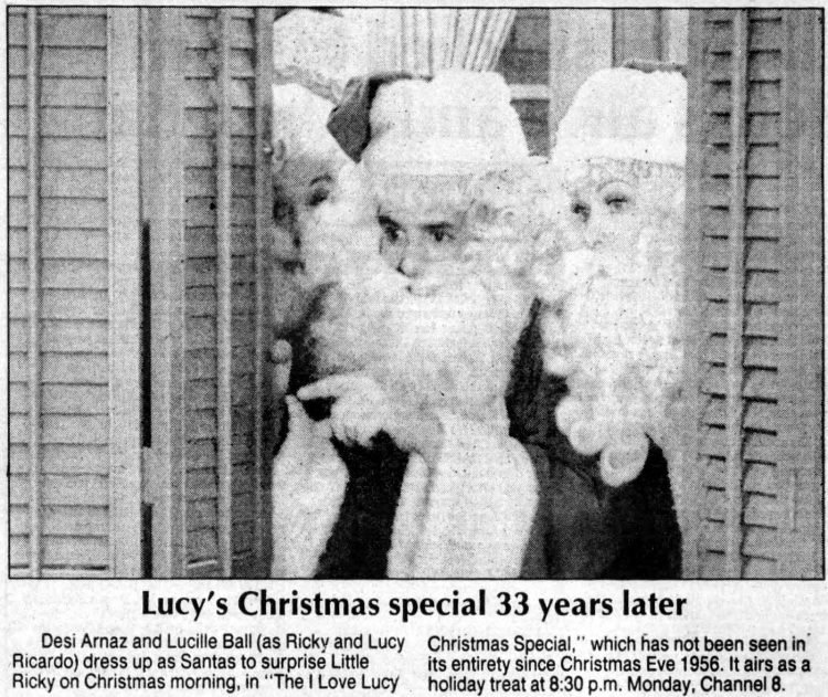 I Love Lucy Christmas special 1989