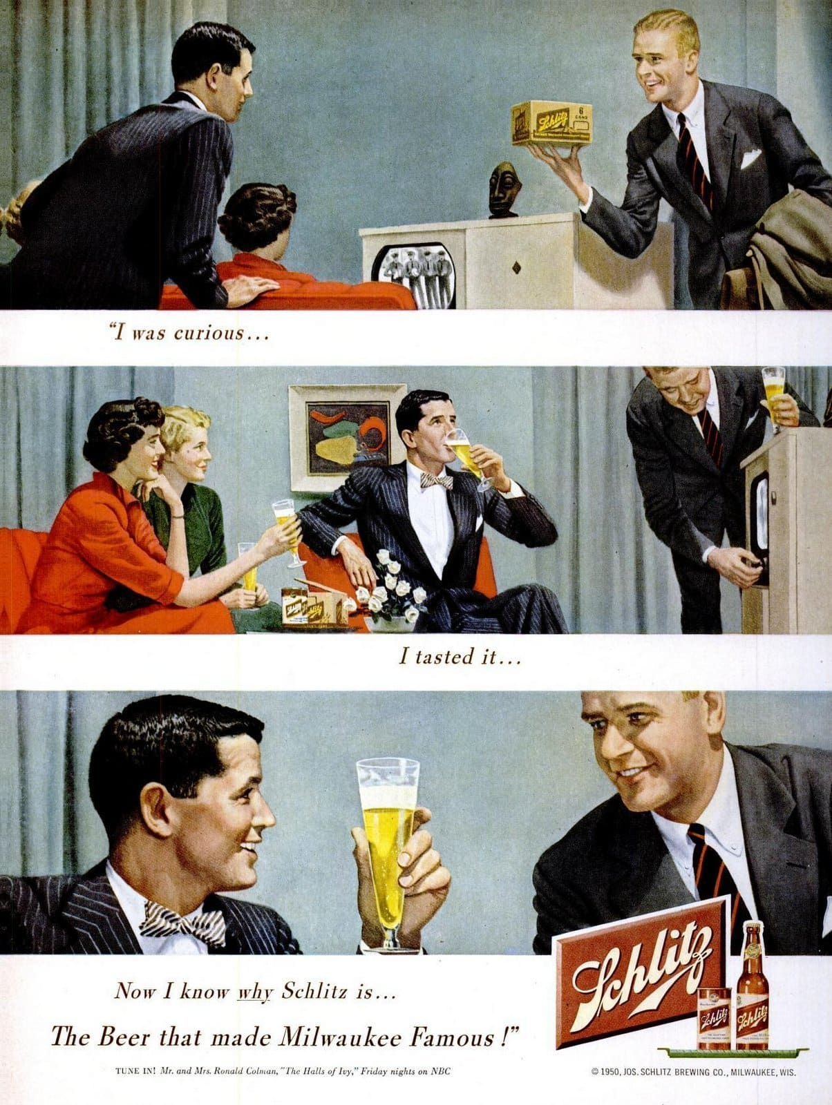 I was curious about Schlitz beer (1950)