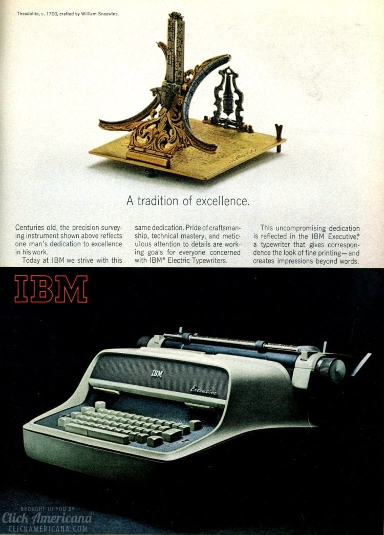IBM electric typewriters - A tradition of excellence (1965)
