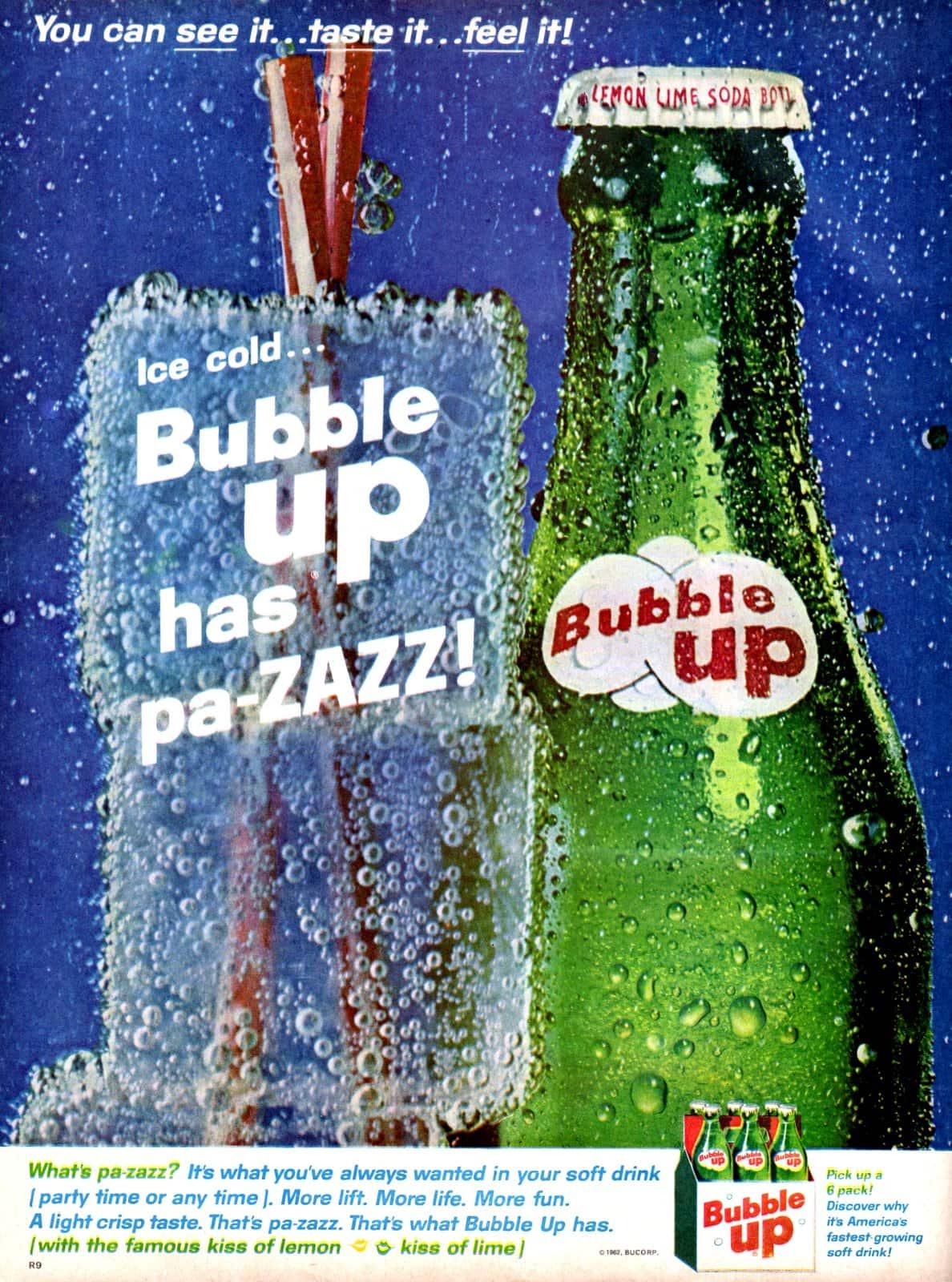 Ice cold... Bubble Up has pa-ZAZZ (1962)