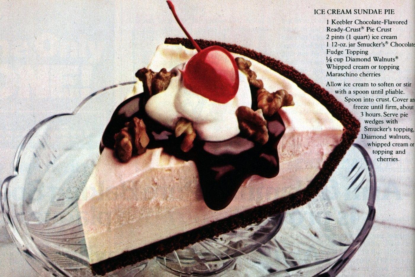 Ice cream sundae pie recipe (1982)