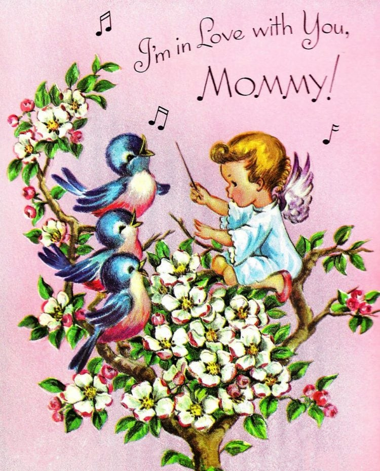 I'm in love with you mommy - Vintage Mother's Day cards from the 1950s-1960s