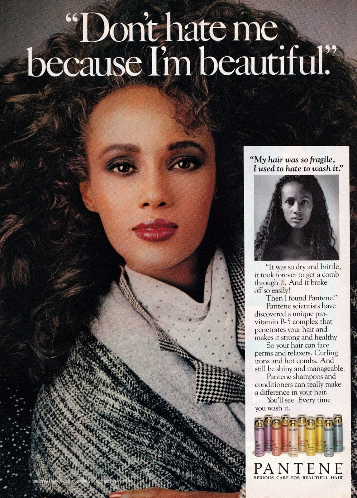 Iman Pantene ad 1987