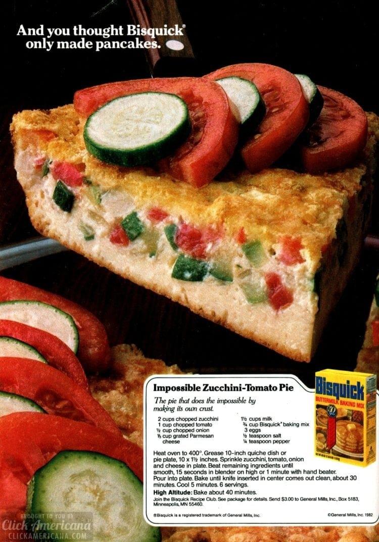 Impossible Zucchini-Tomato Pie recipe