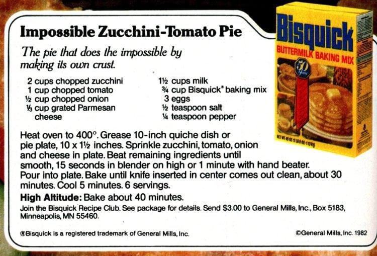 Impossible Zucchini-Tomato Pie recipe card