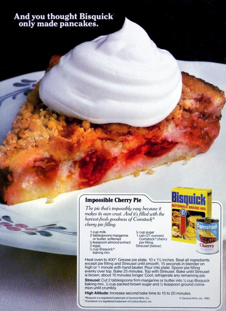 Impossible cherry pie A retro recipe from the '80s (2)
