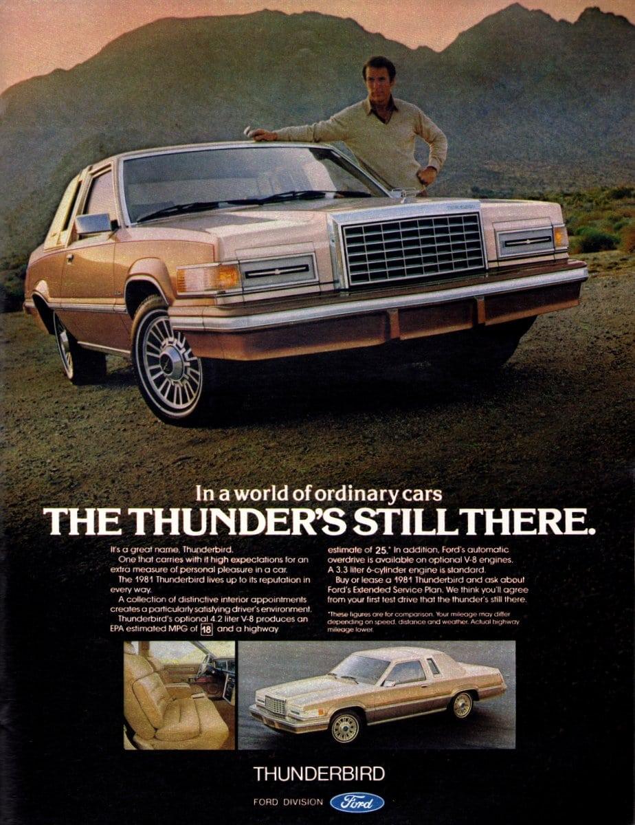 In a world of ordinary cars 1981 Thunderbird (1980)