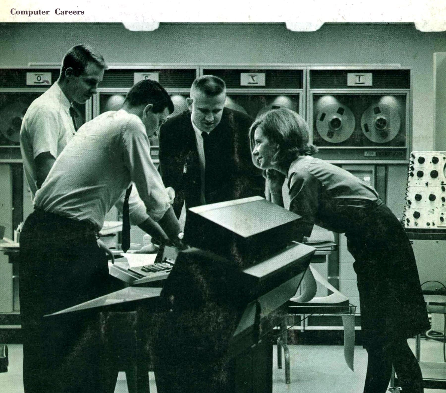 In the 1960s, computer programmers were in high demand