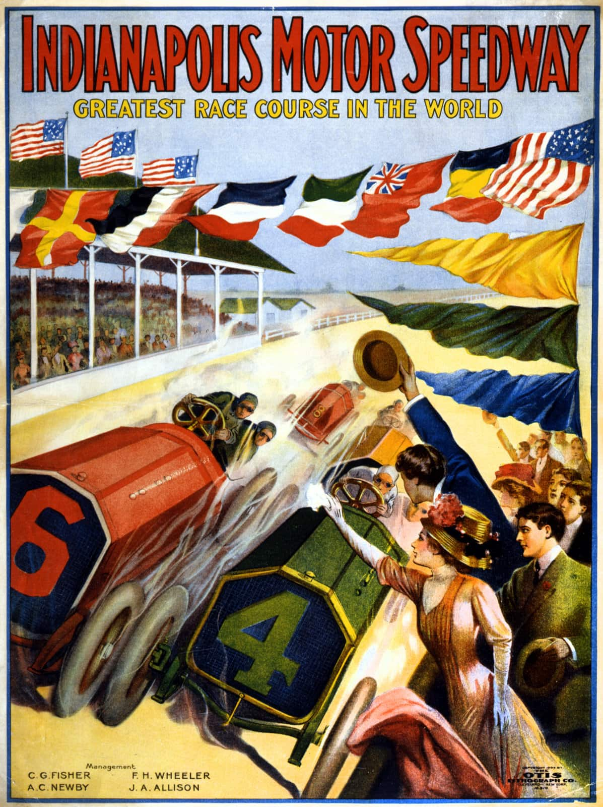 Indianapolis Motor Speedway poster (1909)