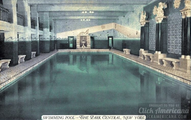 Swimming pool at The Park Central, New York (1900)