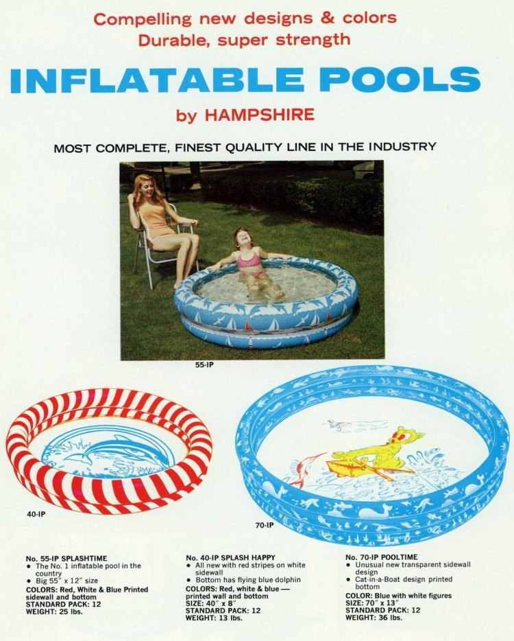 Inflatable wading pools for children from the 60s (2)