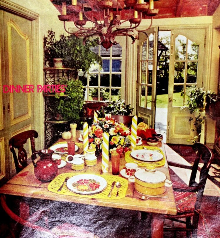 Inside Helen Reddy's house in 1975 - dining room