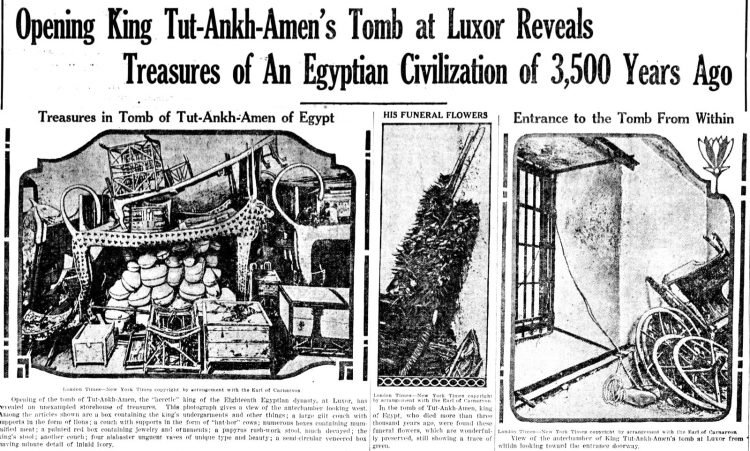 Inside Tutankhamun's tomb - King Tut - March 1 1923 (1)