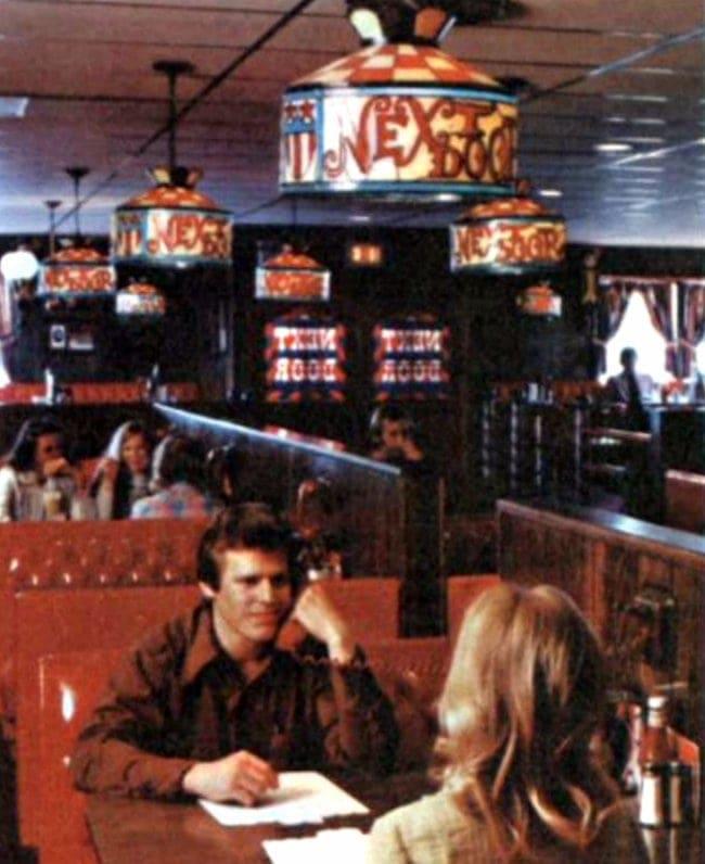 Inside a Next Door restaurant - 1973