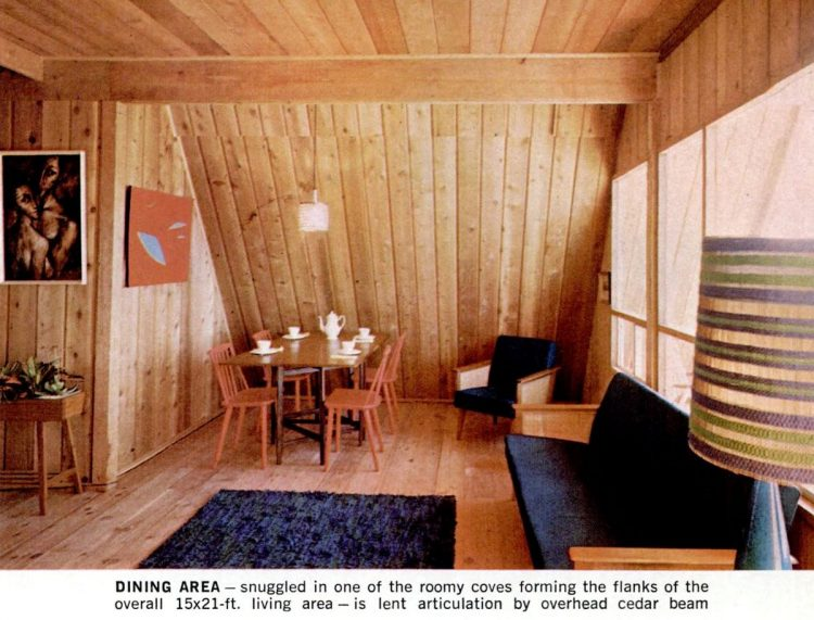 Inside an A-frame house from the 60s (3)