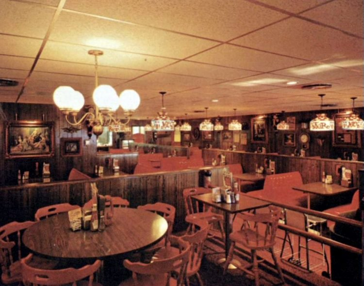 Inside an old Next Door restaurant 1970
