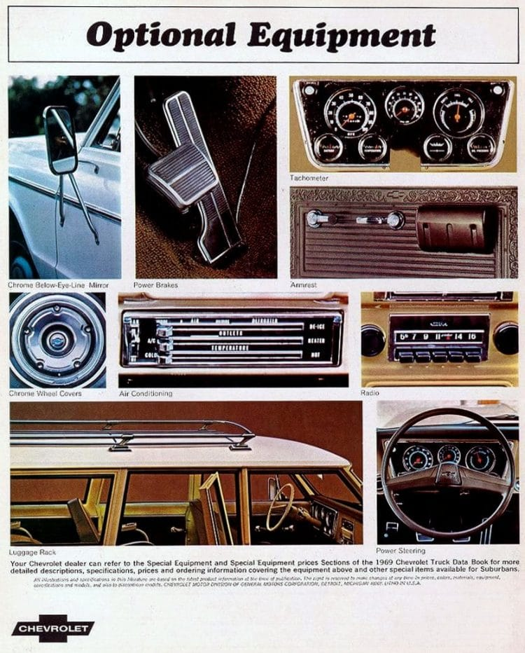 Inside the 1969 Chevy pickup truck - Radio accessories dashboard