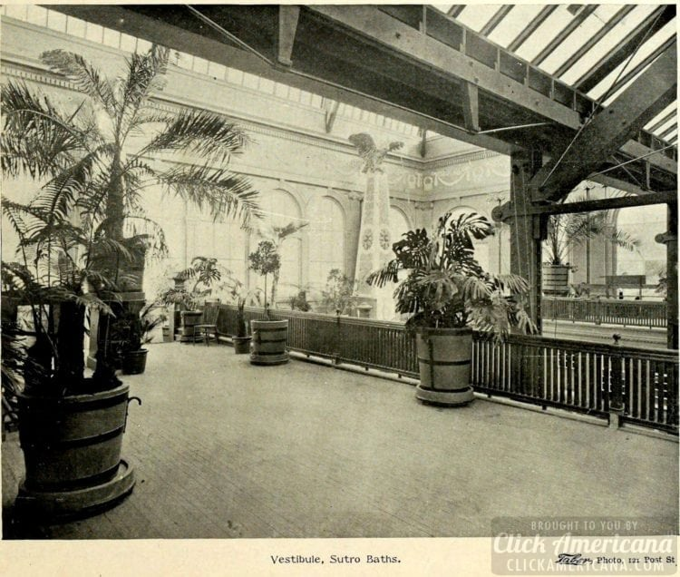Inside the Sutro Baths - 1895