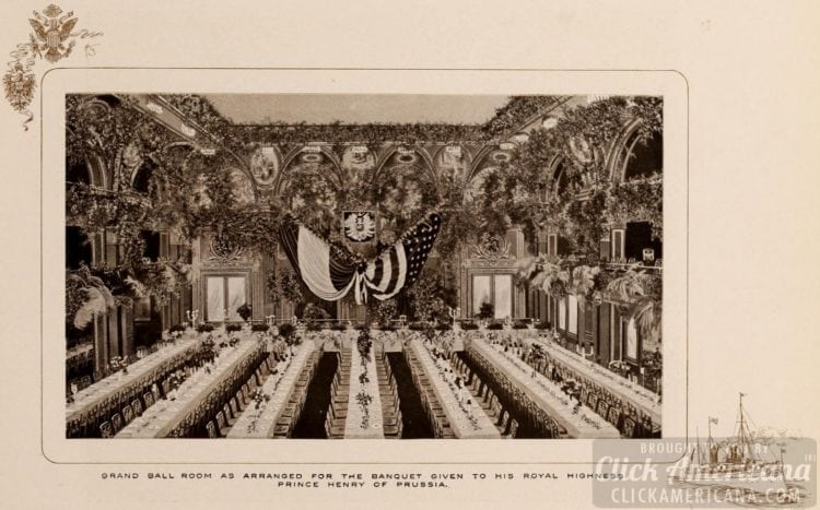 Inside the Waldorf-Astoria Hotel - Grand Ball Room in 1903