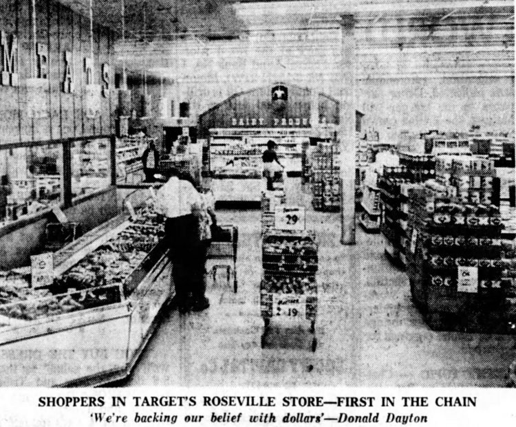 Inside the first Target store - 1962