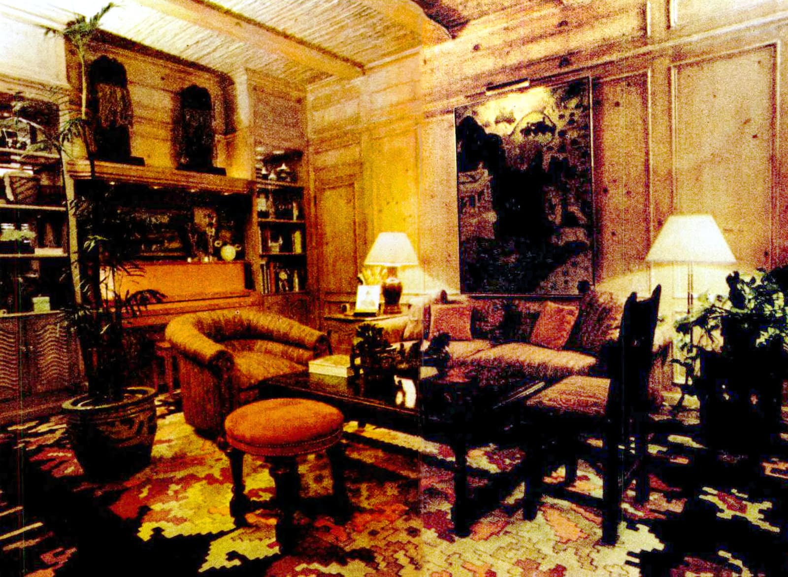 Inside the home of singer Johnny Mathis - seen in 1976 (1)