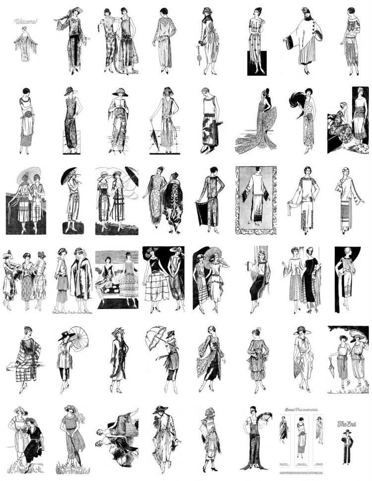 Inside vintage women's fashion book 3