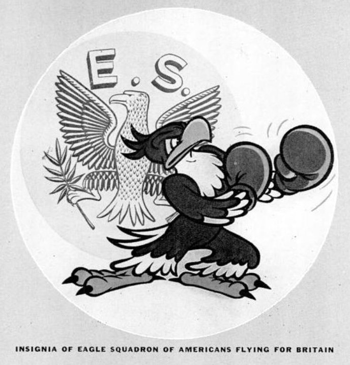 Insignia of Eagle Squadron of Americans flying for Britain in WWII